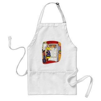 Vintage Retro Kitsch Suburbs Food Stuffed Fridge Adult Apron