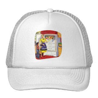 Vintage Retro Kitsch Suburbs Food Stuffed Fridge Trucker Hat