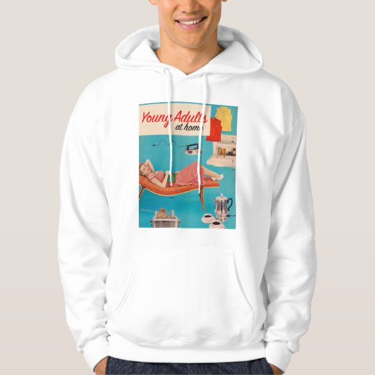 Vintage Retro Kitsch Suburbs Young Adults at Home Hoodie