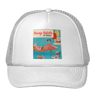Vintage Retro Kitsch Suburbs Young Adults at Home Trucker Hat