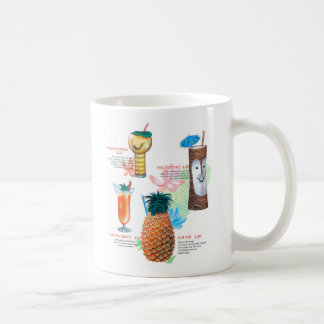 Vintage Retro Kitsch Tiki Cocktails Menu Coffee Mug