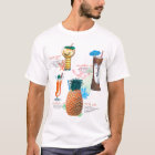 Vintage Retro Kitsch Tiki Cocktails Menu T-Shirt