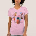 Vintage Retro Kitsch Tiki Cocktails Menu Tee Shirt