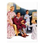 Vintage Retro Kitsch TV Original Family Hour Postcard