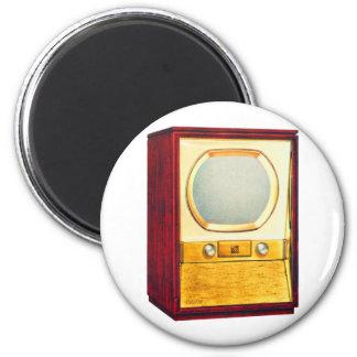Vintage Retro Kitsch TV Television Set 2 Inch Round Magnet