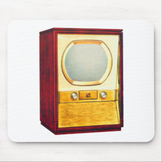 Vintage Retro Kitsch TV Television Set Mouse Pad