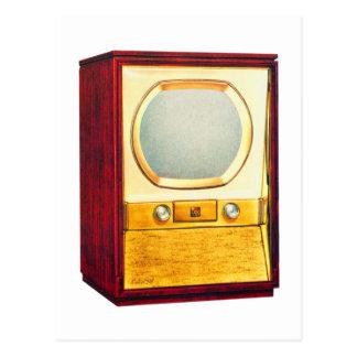 Vintage Retro Kitsch TV Television Set Postcard