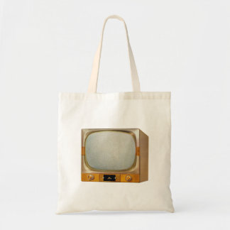Vintage Retro Kitsch TV Television Set Tote Bag
