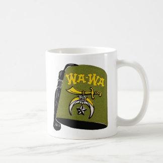 Vintage Retro Kitsch Wa-Wa Fez Cap Coffee Mug