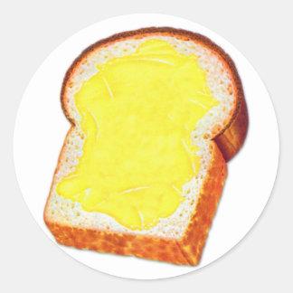 Vintage Retro Kitsch White Bread & Butter Classic Round Sticker