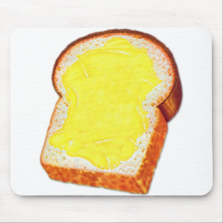 Vintage Retro Kitsch White Bread & Butter Mouse Pad