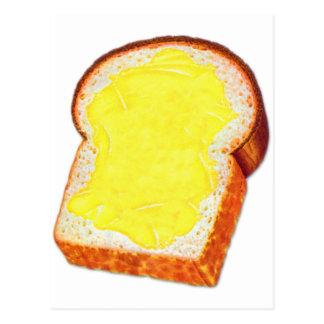 Vintage Retro Kitsch White Bread & Butter Postcard