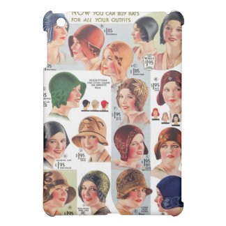 Vintage Retro Kitsch Women 20s Women's Hats Ad iPad Mini Cover