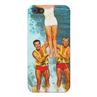 Vintage Retro Kitsch Women Dells Water Skiers Case For iPhone SE/5/5s