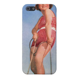 Vintage Retro Kitsch Women Water Skiing Boogie Cover For iPhone SE/5/5s