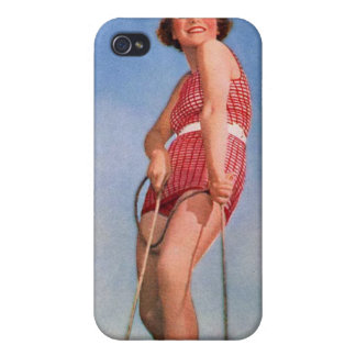 Vintage Retro Kitsch Women Water Skiing Boogie iPhone 4 Covers