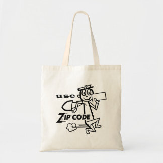Vintage Retro Kitsch Zip Code Mr. Zip Man Tote Bag
