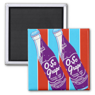 Vintage Retro Ktsch Beverages Oh-So Soda Bottle Magnet