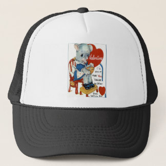 Vintage Retro Lamb Valentine Card Trucker Hat