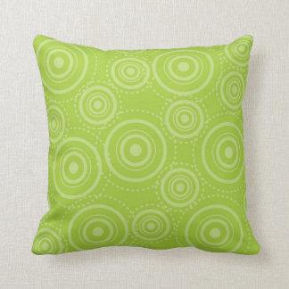 Vintage Retro Lime MoJo Throw Pillow