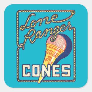 Vintage Retro Lone Ranger Ice Cream Cones Stickers