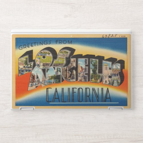 Vintage Retro Los Angeles Post Card HP Laptop Skin