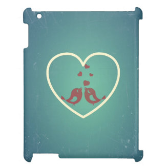 Vintage Retro Love Birds Hearts Teal BlueTurquoise Case For The iPad 2 3 4