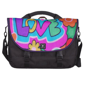 Vintage Retro Love Laptop Bag