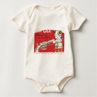 Vintage Retro Macbre Suicide Puppy Valentine Card Baby Creeper