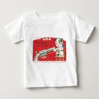 Vintage Retro Macbre Suicide Puppy Valentine Card Tee Shirt