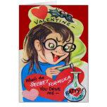 Vintage Retro Mad Scientist Valentine Card
