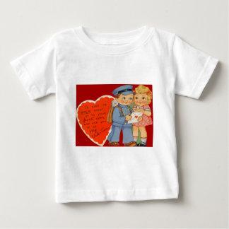 Vintage Retro Mailman Mailing Valentine Card Infant T-shirt