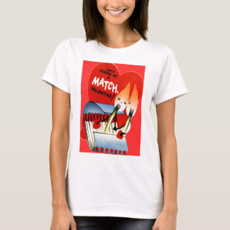 Vintage Retro Matchbook Valentine T-Shirt
