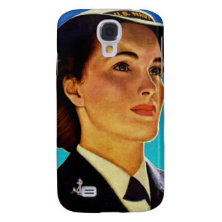 Vintage Retro Military Women WAVEs Navy Samsung Galaxy S4 Covers