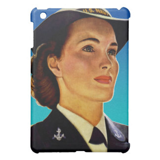 Vintage Retro Military Women WAVEs Navy iPad Mini Case