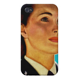 Vintage Retro Military Women WAVEs Navy iPhone 4 Cover