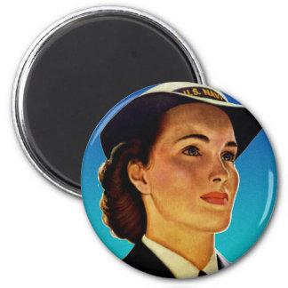 Vintage Retro Military Women WAVEs Navy Magnet