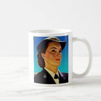 Vintage Retro Military Women WAVEs Navy Mug