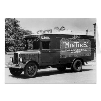 Vintage Retro Mint Candy Truck Photo Blank Card