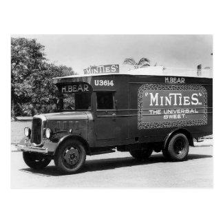 Vintage Retro Mint Candy Van Truck Photo Postcard