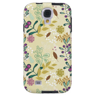 Vintage retro mod spring flowers floral pattern galaxy s4 case