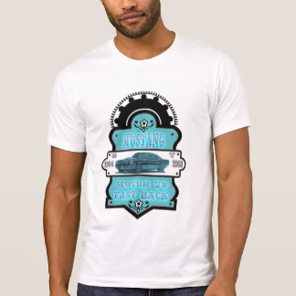 Vintage Retro Mustang white for Tshirt men´s gifts