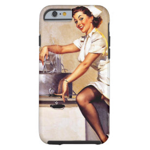 Vintage Retro Nurse Pin Up Girl Tough Iphone 6 Case