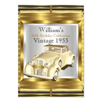 Vintage Retro Old Car Gatsby Deco Party Card
