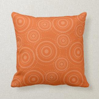 Vintage Retro Orange MoJo Throw Pillow