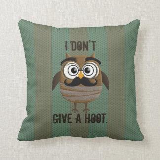Vintage Retro Owl Throw Pillow