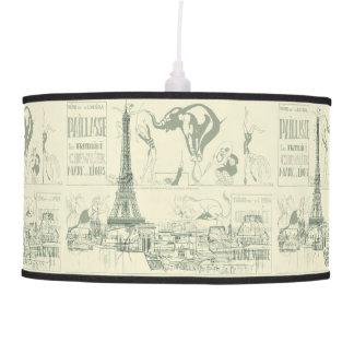 Vintage Retro Paris Circus Eiffel Tower Design Ceiling Lamps