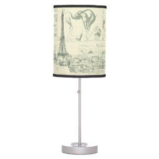 Vintage Retro Paris Circus Eiffel Tower Designer Desk Lamps