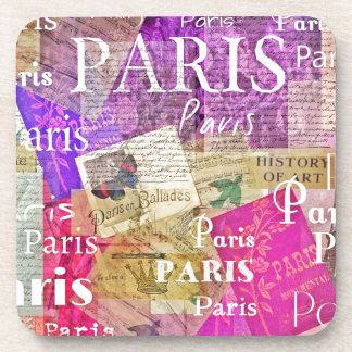 Vintage Retro Paris Eiffel Tower ART Coaster