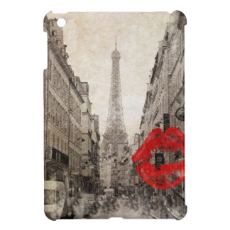 Vintage retro Paris Eiffel Tower Oohlala fashion Cover For The iPad Mini